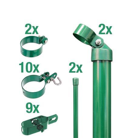 Zaunanschluss-Set 2S, grün, zE Ø76 2000 mm f. Tor