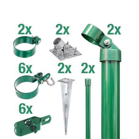 Zaunanschluss-Set 2S, grün, zA Ø60 800 mm f. Tor