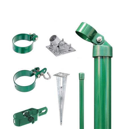 Zaunanschluss-Set 2S, grün, zA Ø60 1000 mm f. Tor