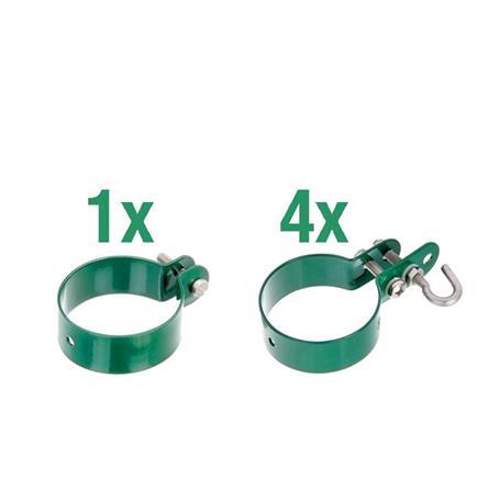 Zaunanschluss-Set Tor 1S, grün, Ø60 2000 mm