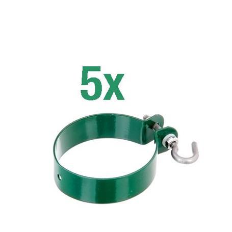 Zaunanschluss-Set Tor 1S, grün, Ø76 2000 mm