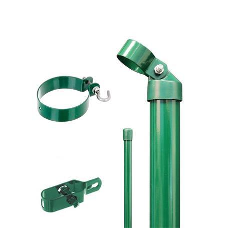 Zaunanschluss-Set 2S, grün, zE Ø76 800 mm f. Tor