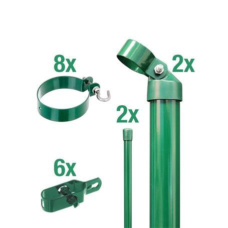 Zaunanschluss-Set 2S, grün, zE Ø76 1000 mm f. Tor