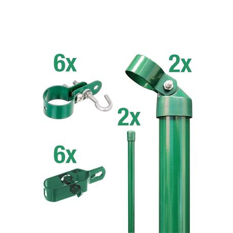 Zauneck-Set Draht, grün, zE, für Zaunhöhe 1250 mm