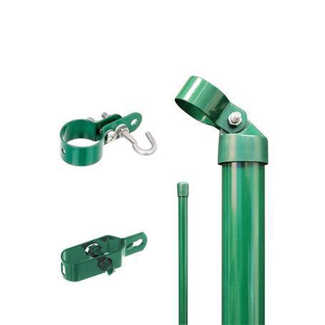 Zauneck-Set Draht, grün, zE, für Zaunhöhe 2000 mm