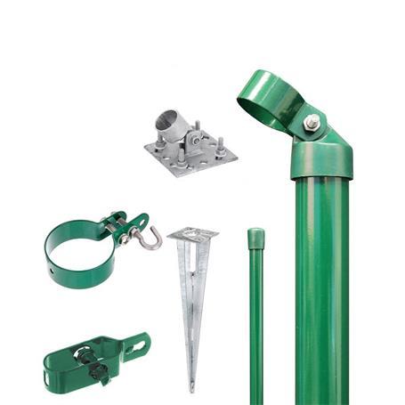 Zauneck-Set Draht, grün, zA, für Zaunhöhe 1250 mm