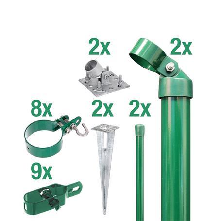 Zauneck-Set Draht, grün, zA, für Zaunhöhe 2000 mm