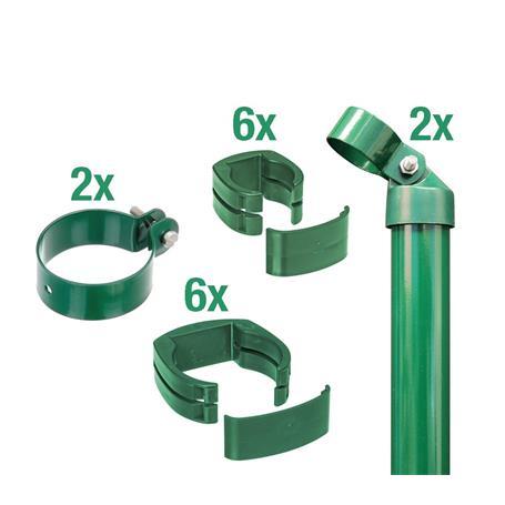 Zaunanschluss-Set 2S, grün, zE Ø60 810 für Tor