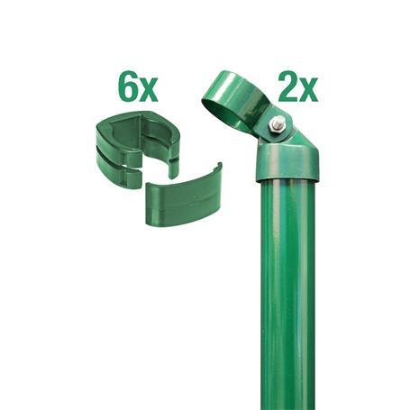 Zauneck-Set, grün, zE, für Zaunhöhe 1220mm