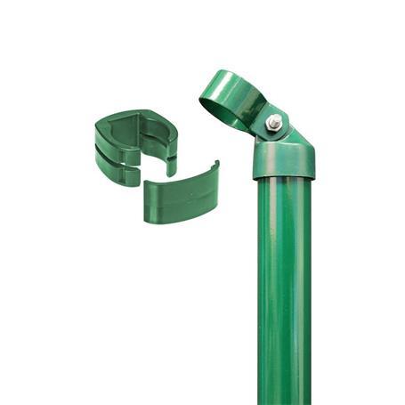 Zauneck-Set, grün, zE, für Zaunhöhe 1530mm