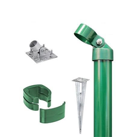 Zauneck-Set, grün, zA, für Zaunhöhe 1220mm