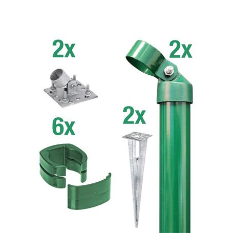 Zauneck-Set, grün, zA, für Zaunhöhe 1530mm