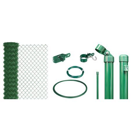 Maschendrahtzaun Set zE, grün, H. 1750 mm - 15 m