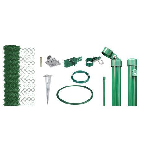 Maschendrahtzaun Set EBH, grün, H. 1500 mm - 15 m