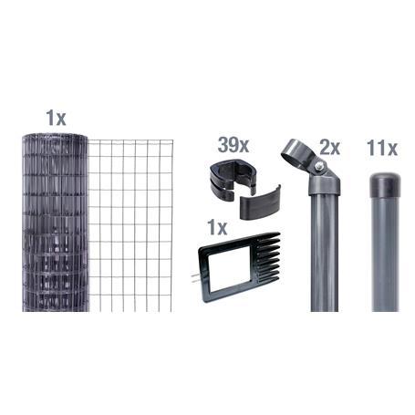 Fix-Clip Pro Set zE, anth, Höhe 810mm - 25m