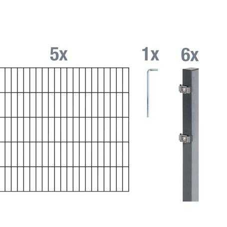 Doppelstabmatte-Set 6-5-6, anth, 2000x800, 10 m