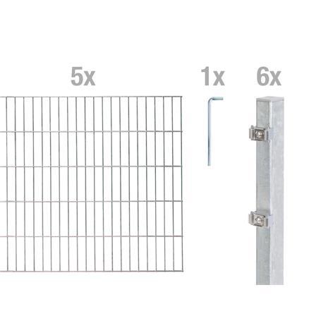 Doppelstabmatte-Set 6-5-6, fvz, 2000x1400, 10 m