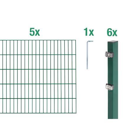 Doppelstabmatte-Set 6-5-6, grün, 2000x1000, 10 m
