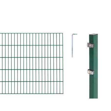 Doppelstabmatte-Set 6-5-6, grün, 2000x1200, 10 m
