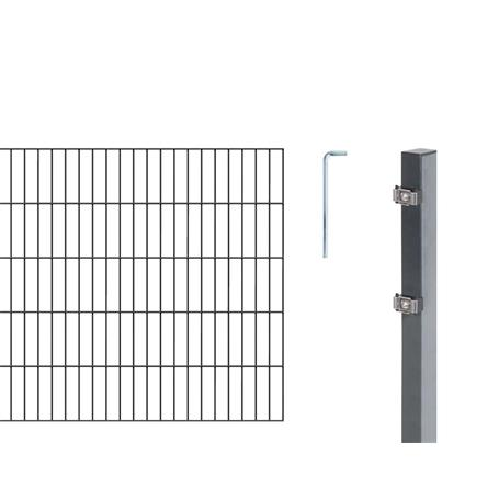 Doppelstabmatte-Set 6-5-6, anth, 2000x1200, 10 m
