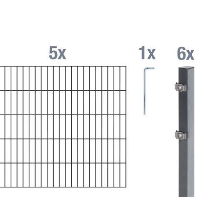 Doppelstabmatte-Set 6-5-6, anth, 2000x1400, 10 m