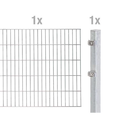Doppelstabmatte-Anbauset 6-5-6, fvz, 2000x1600, 2m