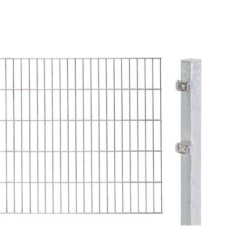 2m Doppelstabmatte 6-5-6 mit Pfosten fvz 2000x1600