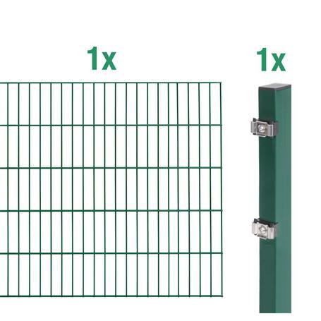 Doppelstabmatte-Anbauset 6-5-6, grün 2000x1200, 2m
