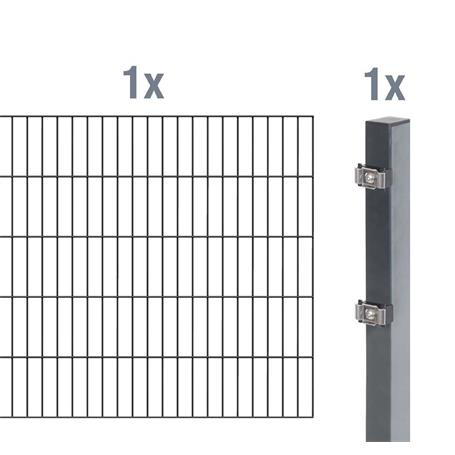 Doppelstabmatte-Anbauset 6-5-6, anth 2000x1400, 2m