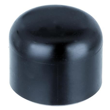 GAH Pfostenkappe rund, schwarz, f. Pfosten Ø34 mm