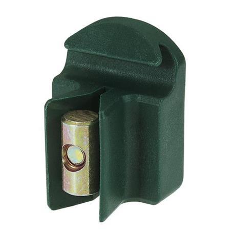 Spanndrahthalter verstellb. m. Schraube, grün, 10x