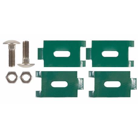 Eckverbinder für Doppelstab-Gittermatten - grün