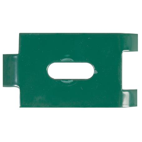 Befestigungslasche f. Doppelstab-Gittermatten grün