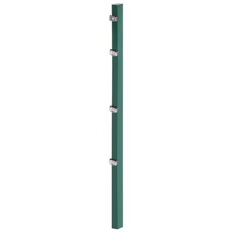 Zaunpfosten + Klemmlasche grün, 60x40x2400, 400 mm