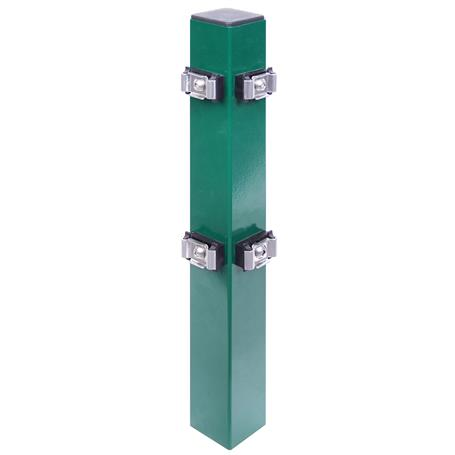 Eckpfosten + Klemmlasche grün, 60x60x1000, 400 mm