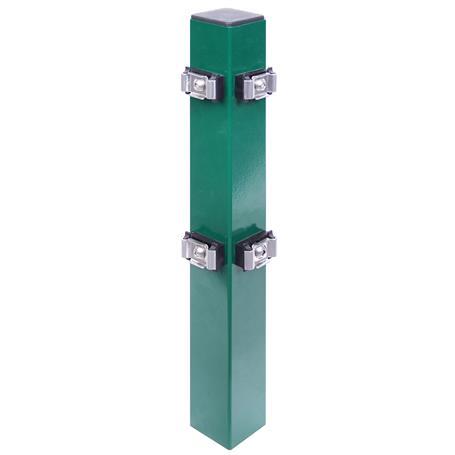 Eckpfosten + Klemmlasche grün, 60x60x1500, 400 mm