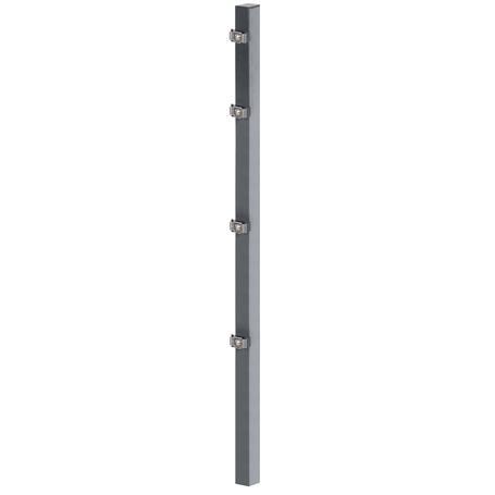 Zaunpfosten + Klemmlasche anth, 60x40x2000, 400 mm