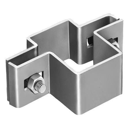 Mittelschelle für Vierkantpfosten 60 x 40 mm - fvz