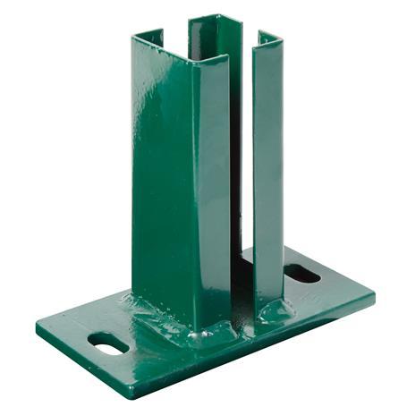 Eck-Pfostenträger Doppelstab-Gitter-Pfosten, grün