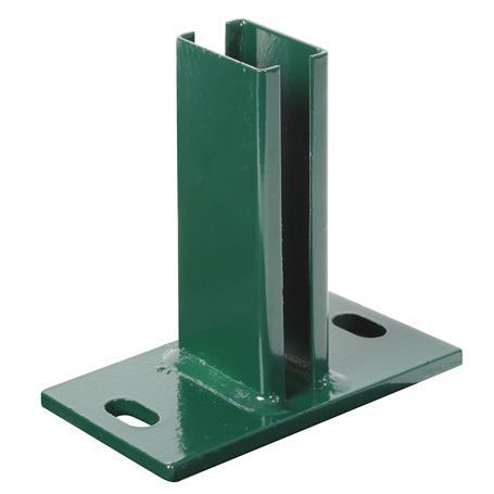 Pfostenträger für Doppelstab-Gitter-Pfosten - grün
