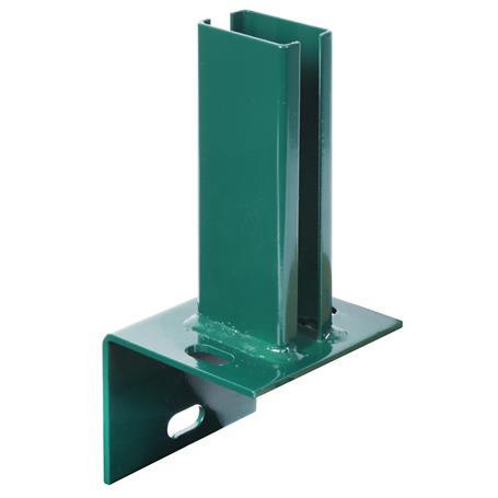L-Pfostenträger f. Doppelstab-Gitter-Pfosten, grün