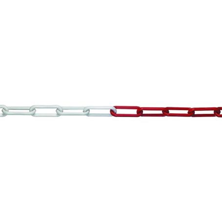 30m Absperrkette rot-weiß Stahl verzinkt 5mm