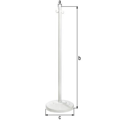 Absperrketten-Ständer Inside weiß Ø25 2Ösen