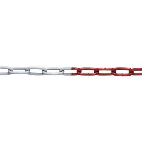 10m Absperrkette rot-weiß Stahl verzinkt 5mm