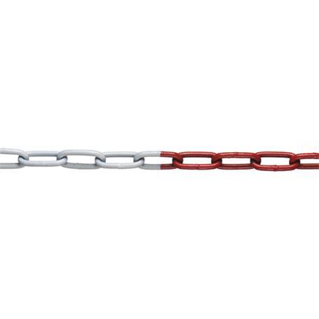 10m Absperrkette rot-weiß Stahl verzinkt 8mm