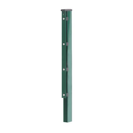 Zaunpfosten + Flacheisen grün, 60x40x2600, 400 mm