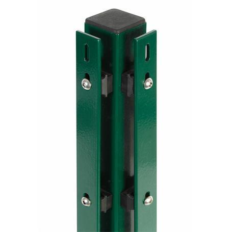 Eckpfosten + Flacheisen grün, 60x60x2400, 400 mm