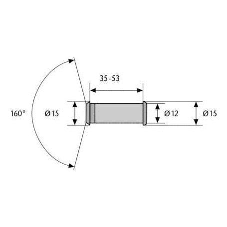 ABUS Türspion 2160 mit 160° Blickwinkel