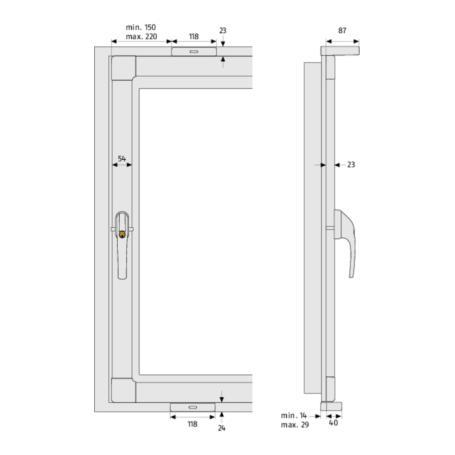 ABUS FKS208W 3Pkt Basis-Paket Fensterkippsicherung