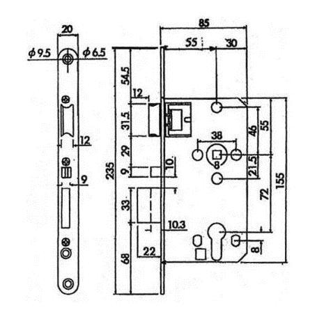 ABUS TKZ40 automatisch verriegeln Einsteckschloss